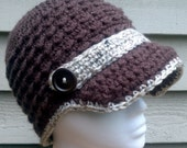 Woman's Newsboy Hat S/M - ready to ship - can also be custom ordered in different size or colour