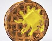 Porcelain Waffle Flask