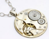 Steampunk Necklace - Vintage Watch Movement Necklace