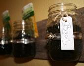 Indoor Mason Jar Herb Garden