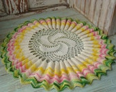 vintage crocheted doilie