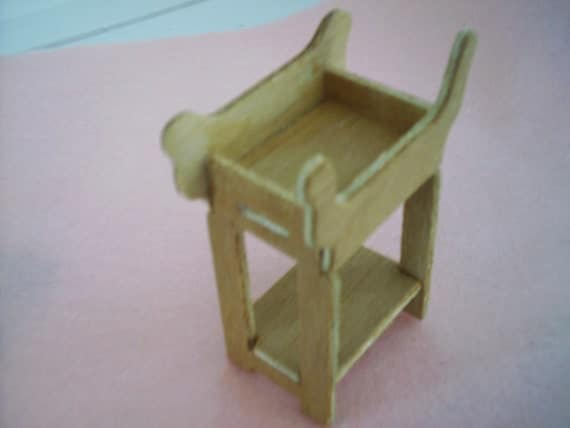 dollhouse miniature UNFINISHED OCCASSIONAL TABLE
