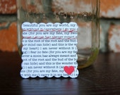 Alternative Guest Book/ Wedding Guest Book/ Unique Wedding Guestbook/Well Wish /Lyrics on Scalloped Cards with Heart (125)