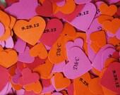 Personalized Confetti/ Wedding Confetti/Heart Confetti/Party Decorations/ Personalized Hearts for Table Decorations (100pc.)