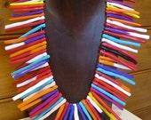 SALE Mega Collar chunky multicolour beaded necklace