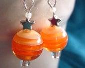 Citrus Orange Star Candy Earrings