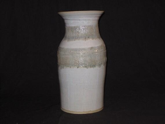 Large White Vase or Umbrella Stand