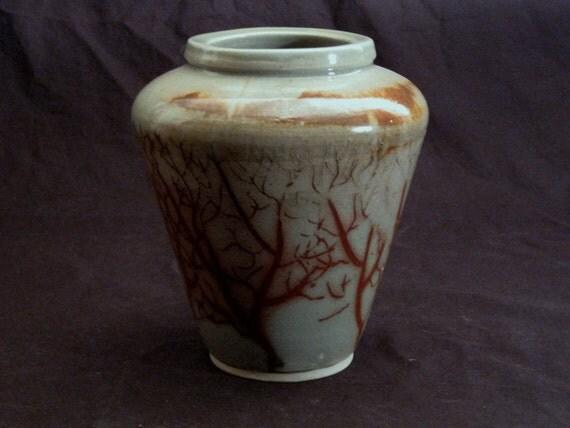 Celadon Inlayed Tree Vase