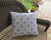 Decorative Pillow Cover Grey Geometric Print