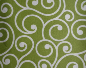 OUTDOOR Pillow Cover / Beautiful Lime Green Swirls Print / Waterproof Pillow