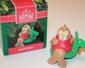 1990 Hallmark Keepsake Ornament POOLSIDE WALRUS Reindeer Float QX498-6