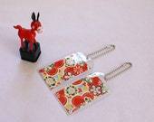 Luggage Tags - Chiyogami Paper