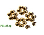 20% Off Clearance SALE : 9mm 100pcs Gold conical studs / HIGH Quality - Fikashop