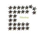 9mm 300pcs Silver Star Studs ( 5 legs ) / HIGH Quality - Fikashop