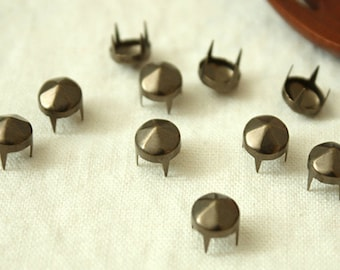 20% Off Clearance SALE: 9mm 50pcs Brass conical hexagon studs / HIGH Quality - Fikashop
