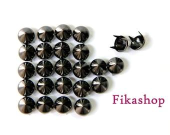 9mm 100pcs Gunmetal conical studs / HIGH Quality - Fikashop