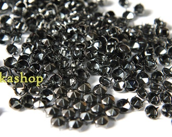 35% Off Clearance SALE: 4mm 100pcs Gunmetal conical hexagon studs / HIGH Quality - Fikashop