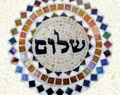Set of 5 Geeting Cards with Envelopes and Prints of my Unique Mosaics - Peace - Shalom