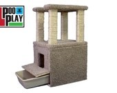 Cat tower and Litter box combo