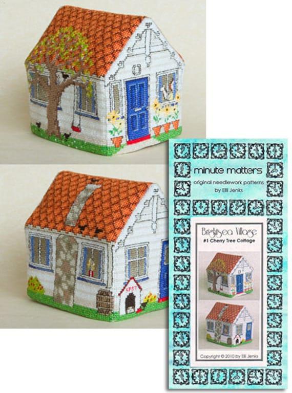 3D BrightSea Village 1 Cherry Tree Cottage Cross Stitch Pattern