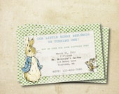 Peter Rabbit Inspired - DIY Printable Custom Birthday Invitation