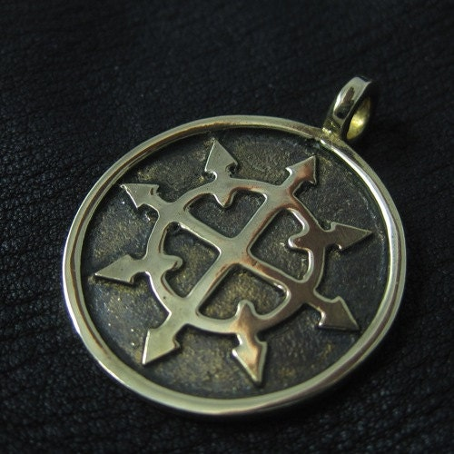 chaos pendant bronze by thesunkencity on etsy