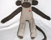 CHIP.... a brown knit sock monkey