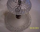 Sale Vintage Clear Hobnail Glass Table Lamp