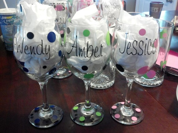 Wedding Gift Glasses Suggestions : ... glasses/ bridal shower, wedding, birthdays, girls night out , wedding