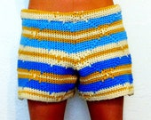 Crochet Afghan Shorts Bohemian Lady // Large