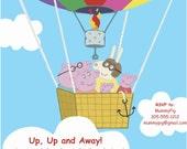 Peppa Pig Inspired Printable Custom Birthday Invitation 5x7