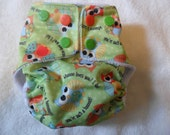 Newborn Owl Diaper with MINKY inner fits 6-10lbs FREE SHIPPING