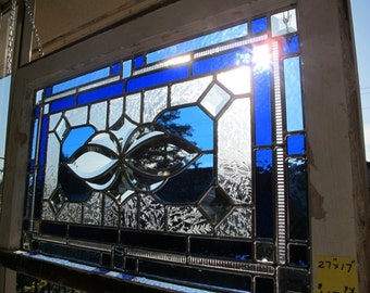 Stained Glass Blue - Traditional