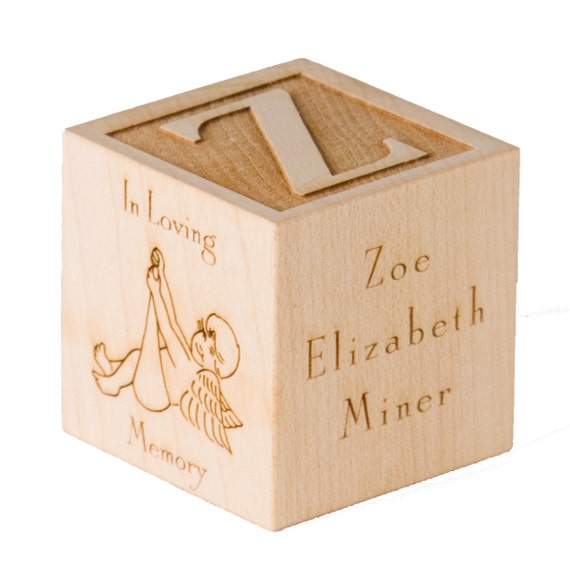 Personalized Infant Memorial Gift Engraved Custom Wooden Block Stillborn Born Sleeping Infant Loss Angel Baby Angel In Loving Memory Gift