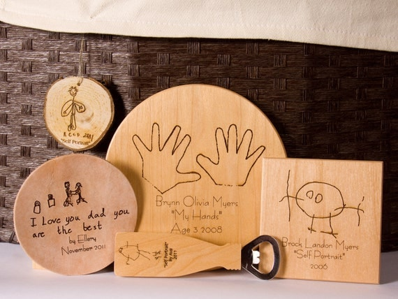 "Kids Art- ""All By Me-Self"" Engraved Children's Art"