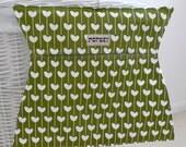 Hand Printed Peg Bag HENRIETTA Olive Green