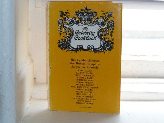 Vintage Cookbook,The Celebrity Cookbook, 1966