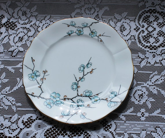 Vintage Salad Plates - Adderley Fine Bone China Chinese Blossom Pattern made in England B5
