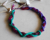 Handmade knitted necklace, summer