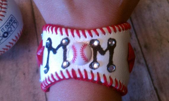 Baseball Mom Baseball Cuff Bracelet