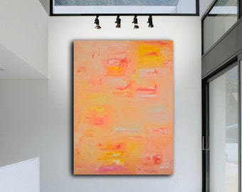 "Summer Passion - Original Modern Abstract Contemporary Art Painting - Size: 48 x 36"" Acrylic on Canvas by A.J. Wesolek"