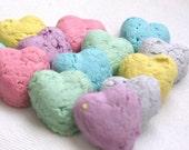 25 Heart Shaped Seed Bombs Rainbow Mix