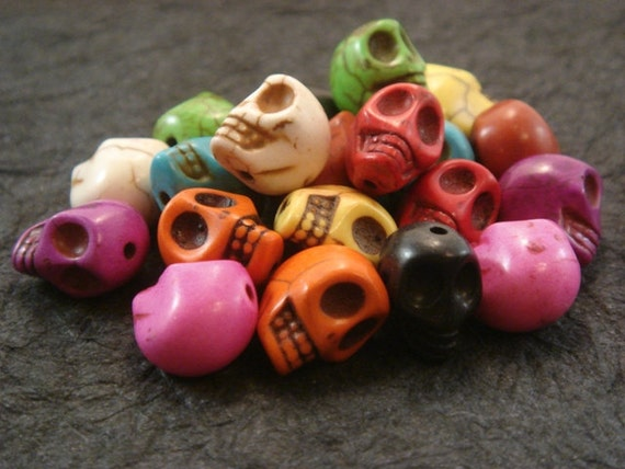 Clearance Sale - Was 9.50 - Skull Earring Pack - 10 Colors, 2 of each
