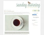 Sunday Morning - Premade Blogger Template Design