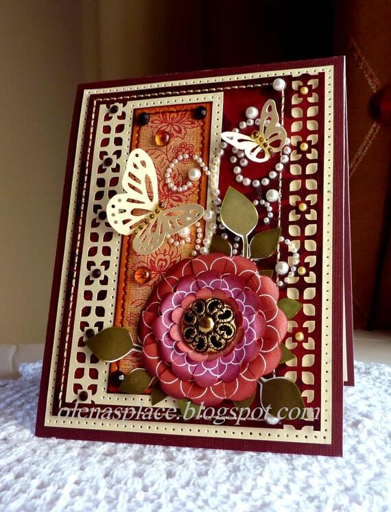 Handmade card- Flower and Butterflies