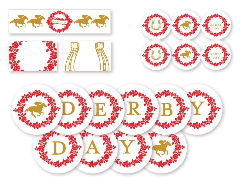 This is a graphic of Sassy Free Kentucky Derby Printables