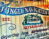 Jungle Cruise Photograph, vintage sign, adventure, fun home decor, 8x10 fine art photo print