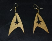 Gold Federation Insignia Earrings