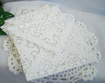 Doily Lace Envelope Paper Envelopes Wedding Invitation White Black Size A2 Shabby Chic Envelope Liner Doily Lace Wedding Invitation Envelope