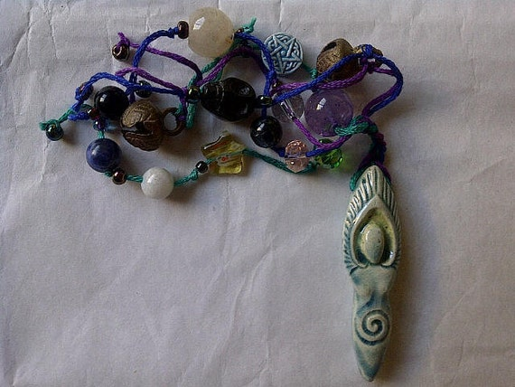 Goddess ,  A Talisman / Amulet / Witches Ladder / Worry Stones / Dream Catcher / Meditation Beads